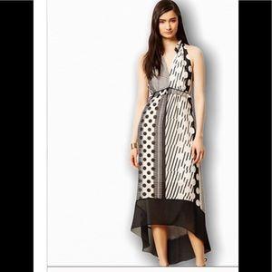 Anthropologie black and cream Maeve dress size 6